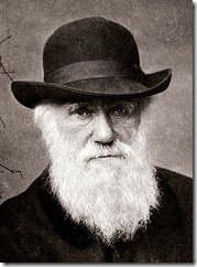 Charles Darwin looking rather sad at Dana Ullman