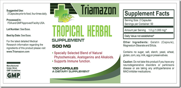 Triamazon_Label