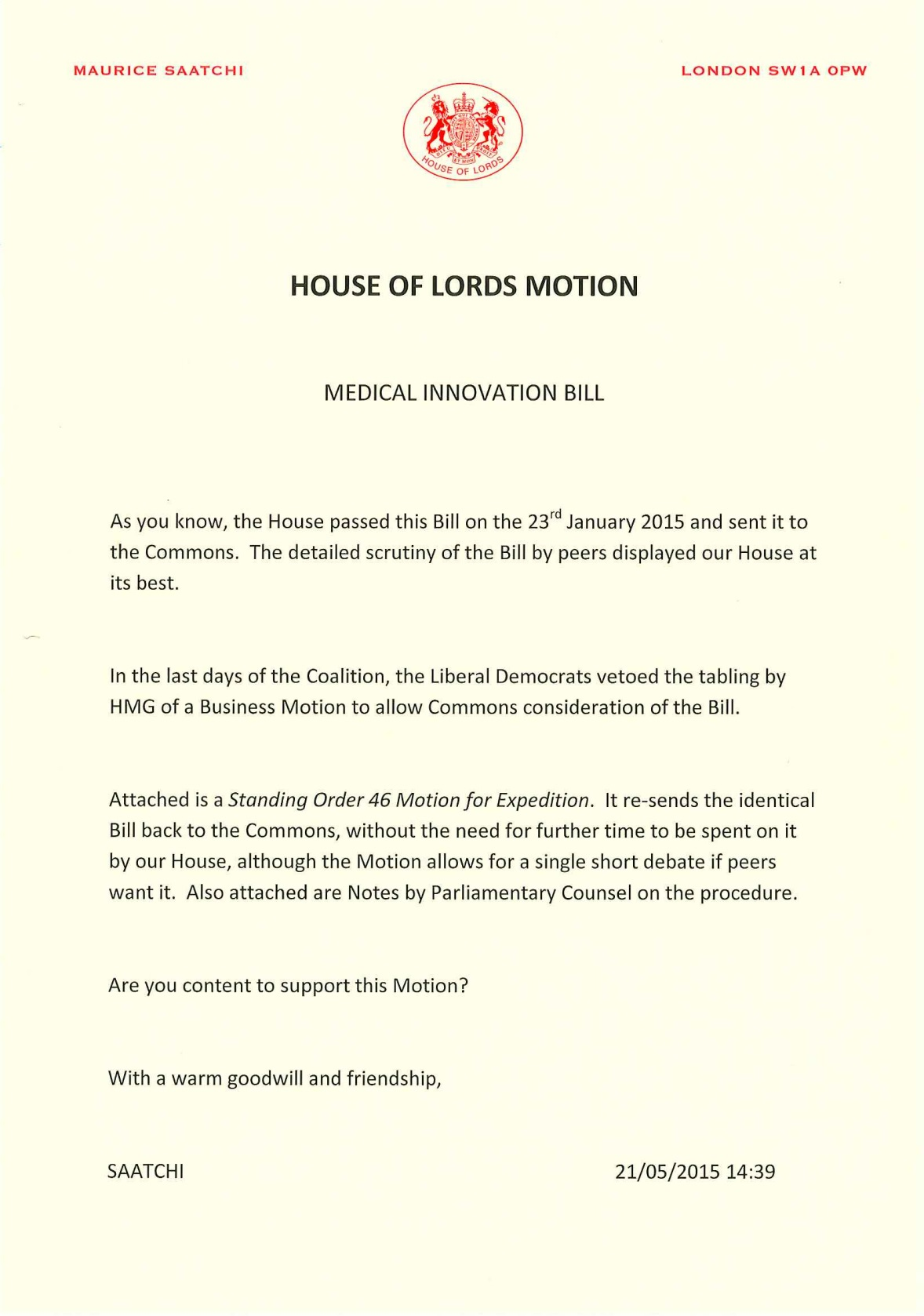 Medical Innovation Bill